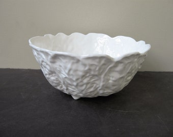 Vtg WEDGWOOD Bone China COUNTRYWARE All White Vegetable Serving Bowl 9 1/2""