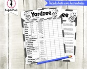 YARDZEE Score Card | Yardzee Score Sheet | Yard Yahtzee | Yardzee Game | Lawn Yahtzee | Yardzee Rules | Yahtzee Lawn Game | Printable