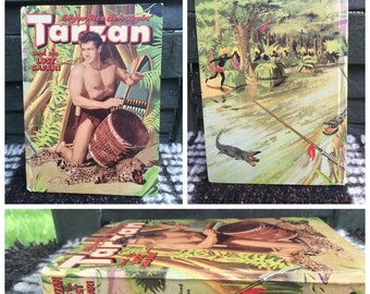 Tarzan and the Lost Safari Authorized Edition Hardcover Book c. 1957 by Whitman Publishing