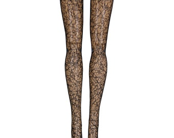 """17"""" Monster High Doll Stockings - Black Filigree - Doll Clothes"""