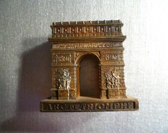 Vintage Paris Arc de Triomphe Paperweight Souvenir