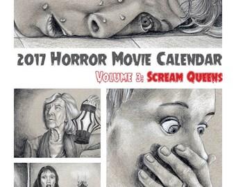 2017 Scream Queen Calendar, Digital Download