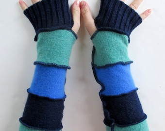 Texting Gloves - Upcycled Clothing - Driving Gloves -  Arm Warmers - Handmade Clothing - Sweater Gloves - Fingerless Gloves