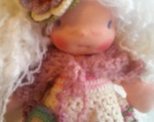Emely   is a beautiful  Waldorf  girl doll,10-12 inches  tall with curly white hair
