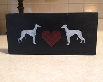 Greyhound love sign, custom any dogs