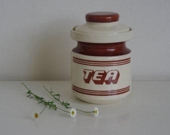Retro tea canister kitchen storage jar