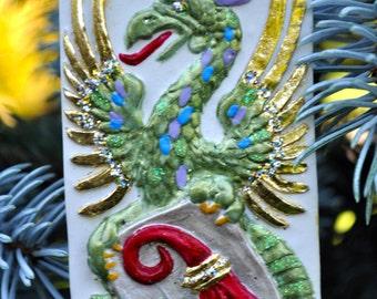 Polymer Clay Springerle Dragon Ornament