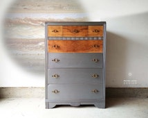 AVAILABLE Dresser in Metallic Paint / Storage / Chest of Drawers/