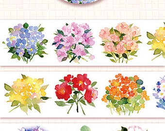 1 Roll Limited Edition Washi Tape: February Flowers