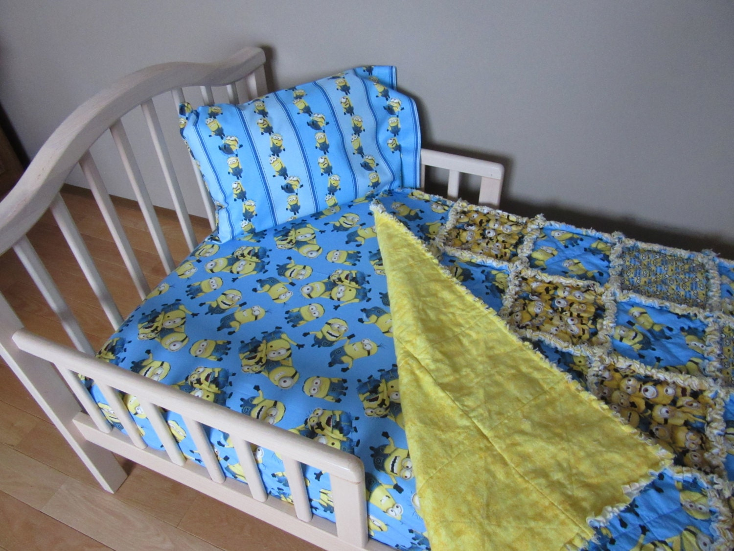 toddler bed minions despicable me fabric crib set large minion