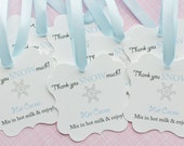 First Birthday Gift Tags-Thank You Tags- Thank You Snow Much- Hot Cocoa Favor Tags- Hot Cocoa-Customized Favor Tags-Gift Tags-Set of 40