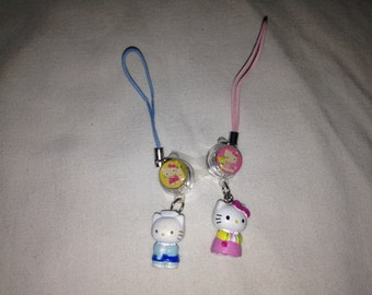set of hello kitty phone charms