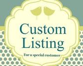 Custom Made Order for R.V.
