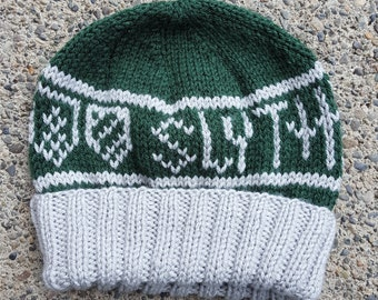 Slytherin Hogwarts House Beanie -- Made to Order