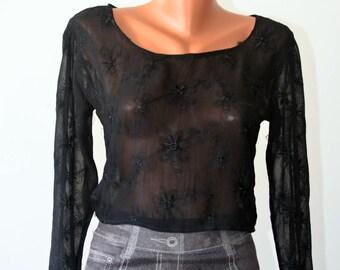 Vintage Lace Blouse, size S-M /34-36/