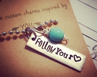 Follow your heart necklace; Charm necklace