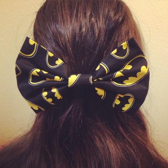 Batman Ring Logo Hair Bow