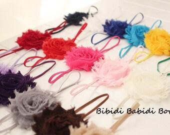 SALE- Girs headband - Set of 10 - baby shower gift - toddler, little girl headband - infant headband- shabby chic flower- Birthday gift -