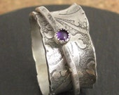 Reserved custom spinner I am enough sterling silver ring