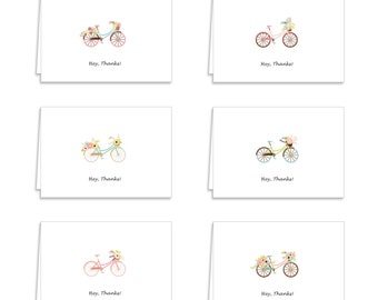 Guajolote Prints Assorted Bicycle Collection Thank You Cards - 12 Cards & Envelopes