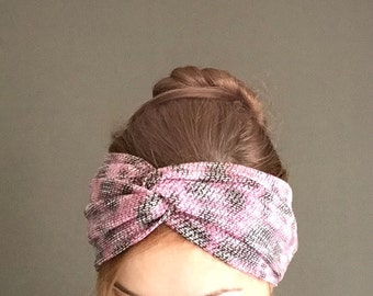 Twist Headband, Animal Print Turban Headband Women, Womens Headband, Yoga Headband, Winter Headwrap, Wide Turban Headbands, Fashion Hat