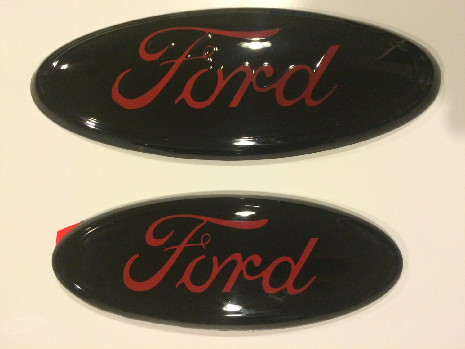 Custom Ford F150 Emblems >> 2004-14 Ford 9 inch and 7 inch oval emblem setBlack & Red