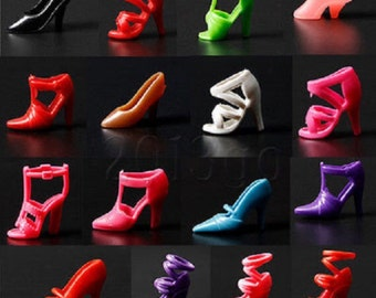 Barbie size Doll shoes, toy accessories, for crafts, cake decorating, jewelry, USA Shipper & Quick
