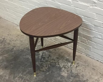 Mid-Century Modern End Table - Nightstand - Guitar Pick * Triangle Shape - Mad Men / Eames Era Decor *SHIPPING NOT INCLUDED*