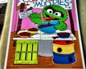 Collectible Wood Puzzle Playskool Oscar Grouch Sesame Street Ctw Vintage