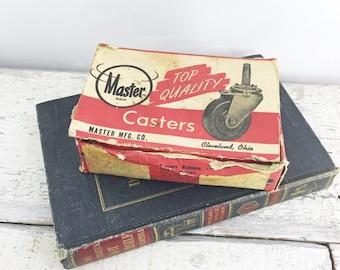 NOS 4 Vintage Master Made Casters