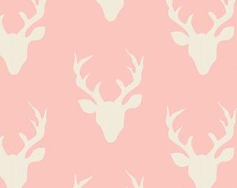 Buck Forest knit in pink - Hello Bear range for Art Gallery Fabrics