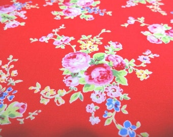 SALE Japanese Fabric LECIEN Flower Sugar Red FQ 31130