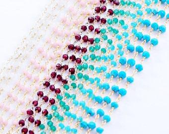 Rosary Chain Bracelet - Choose your color