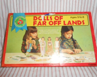 CYBER MONDAY Dolls Of Far off Lands 1969 Paper Dolls-Never Used