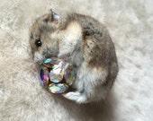 Clutch - Taxidermy Hamster Brooch
