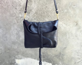 Braid Wrap Bag in Black