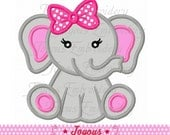 Instant Download Baby Elephant For Girls Applique Machine Embroidery Design NO:2211