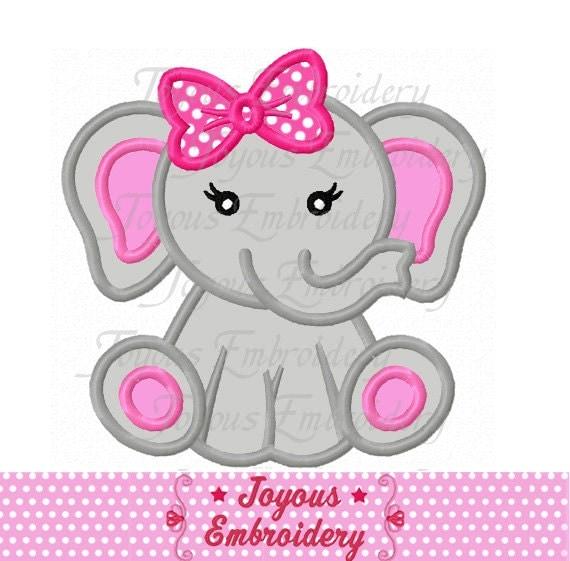 Instant download baby elephant for girls applique machine - Fotos de elefantes bebes ...