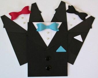 Tuxedo Card for Groomsman | Best Man | Ring Bearer | Wedding Invitation