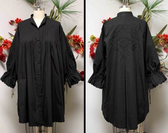 Adorable oversized Plus size shirt in White and Black Quality Cotton with embroidery details and much more XL TO 5XL