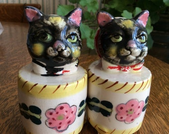 Voice Box Cats Salt and Pepper Shakers Non Working
