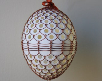 Handmade Copper Wire Wrapped Easter Eggs - w holes