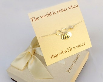 Sterling silver infinty bracelet. Mother bracelet, sister bracelet. Best friend bracelet.