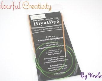 80cm - Hiyahiya Bamboo circular knitting needles