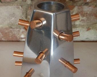 Candlestick - Deccan - cast aluminum and copper
