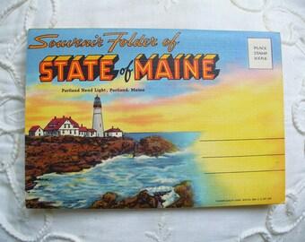 Maine Postcard folder