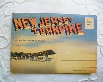 New Jersey Turnpike Postcard Folder