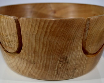 "1090 Yarn bowl, made from a Big Leaf Maple Burl with a double ""J"""