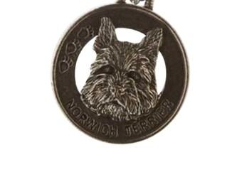Pewter ~ Norwich Terrier Keychain ~ DK128