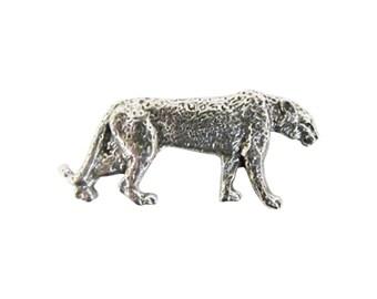 Pewter ~ Leopard ~ Spotted Full Body ~ Lapel Pin/Brooch ~ M112F,MC112F,MP112F